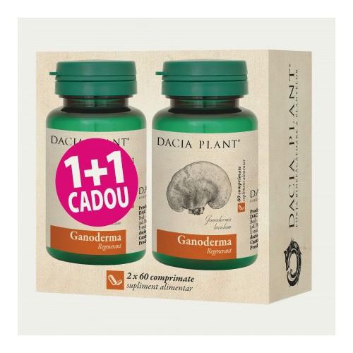 Ganoderma 60 cpr 1+1 Cadou DACIA PLANT