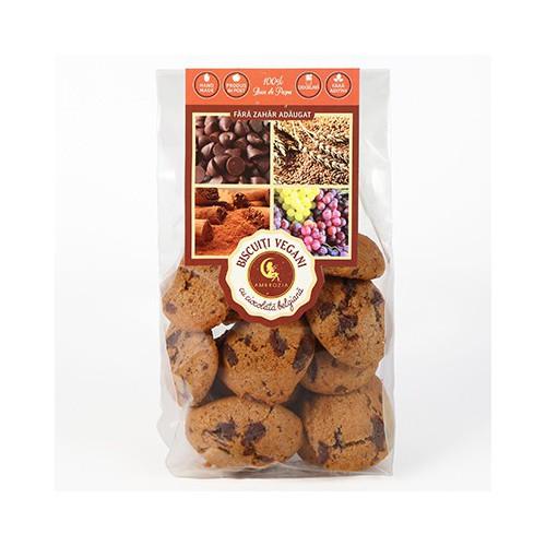 Biscuiti Vegani cu Ciocolata Belgiana 150g HIPER AMBROZIA