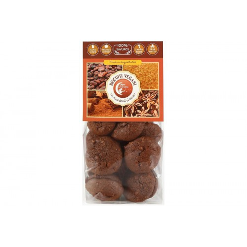 Biscuiti Vegani cu Cacao si Mirodenii 150g HIPER AMBROZIA