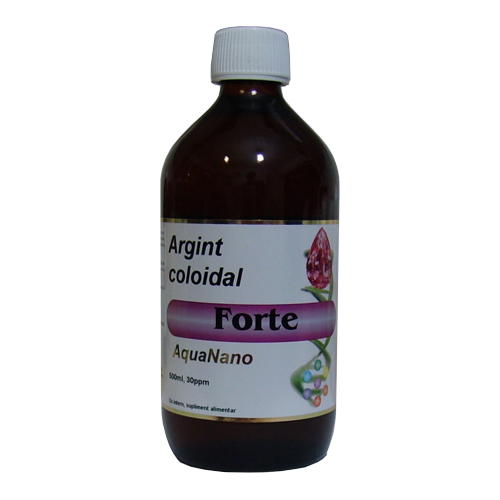 Argint coloidal forte 30 ppm 500 ml AGHORAS