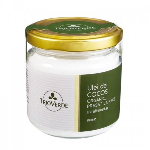 Ulei de Cocos Organic Virgin 200 ml TRIO VERDE