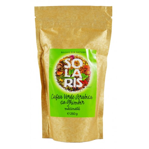 Cafea Verde Arabica Macinata Cu Ghimbir 260g SOLARIS