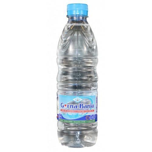 Apa minerala natural-alcalina pH 9.65 0.5 L GORNA BANIA