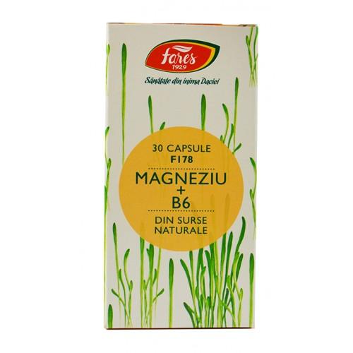 Magneziu+ B6 F178 30 cps FARES
