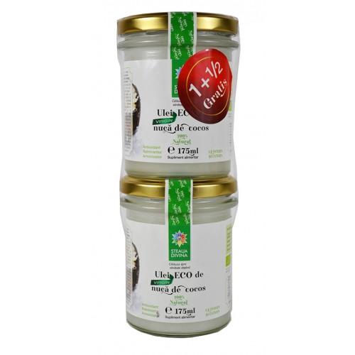 Ulei de nuca de cocos Eco 175 ml 1+1/2 Gratis STEAUA DIVINA