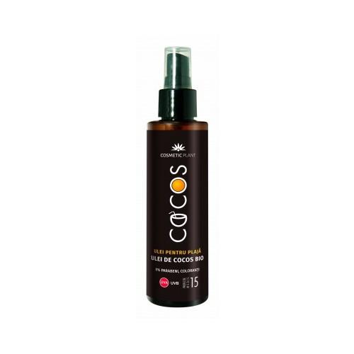 Ulei pentru plaja cu ulei de cocos Bio SPF 15 150 ML COSMETIC PLANT