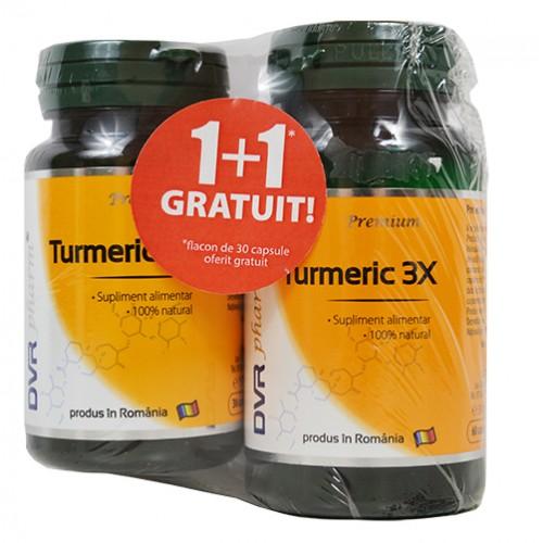 Turmeric 3X 60 cps + 30 cps gratuit DVR PHARM
