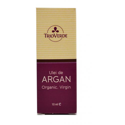 Ulei de argan Organic Virgin 10 ml TRIO VERDE