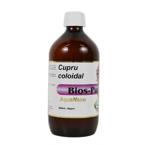 Cupru coloidal Bios-Pur 10 ppm 500 ml AGHORAS