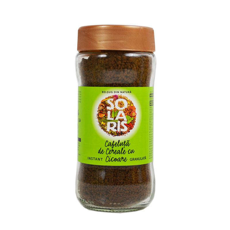 Cafeluta de Cereale si Cicoare Granulata (Borcan) 100g SOLARIS