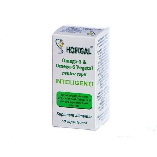 Omega-3 & Omega-6 Vegetal pentru copii inteligenti 60cps HOFIGAL