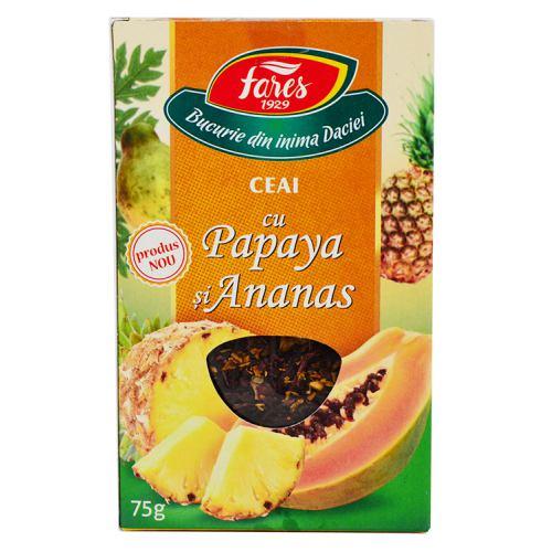 Ceai cu Papaya si Ananas 75G Fares