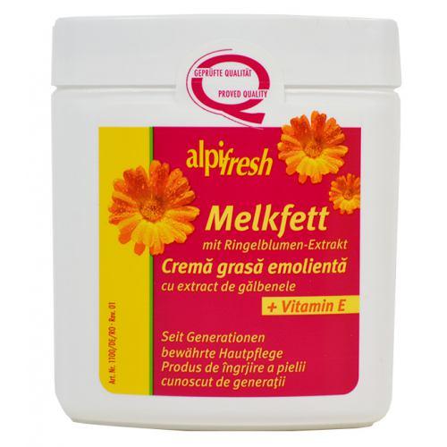 Crema Melkfett cu extract de galbenele si vitamina E 250ml AlpiFresh