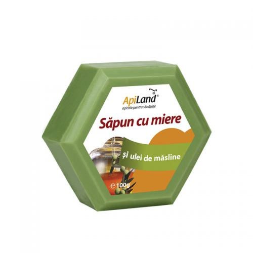 Sapun cu miere si ulei de masline 100G APILAND