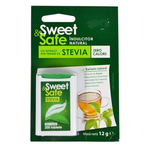 Indulcitor Natural din Stevia 200TB Sweet & Safe