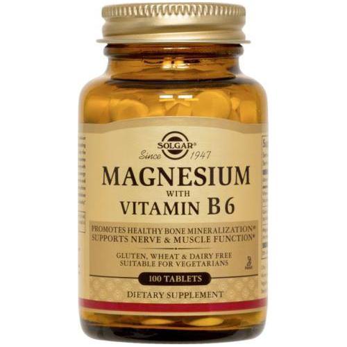Magnesium + vitamina B6 100CPR SOLGAR