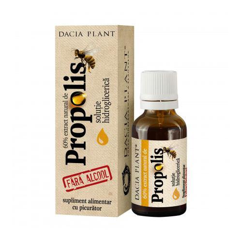 Propolis tinctura fara alcool cu picurator 20ML DACIA PLANT