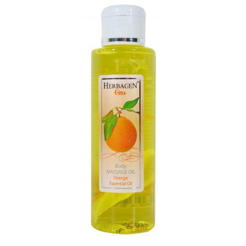 Ulei de masaj cu ulei esential de portocale 100ML HERBAGEN