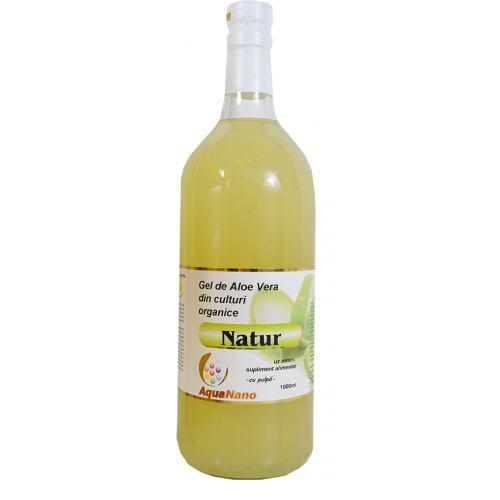 Gel pur de Aloe Vera cu pulpa 1L AGHORAS