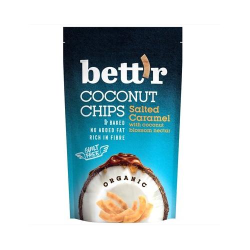 Chips de cocos organic si caramel sarat 70G BETTR