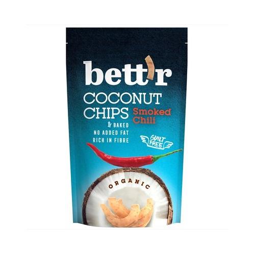 Chips de cocos organic cu chili 70G BETTR