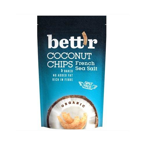 Chips de cocos organic cu sare de mare 70G BETTR