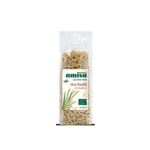 Fusilli din orez integral fara gluten 500G AMISA