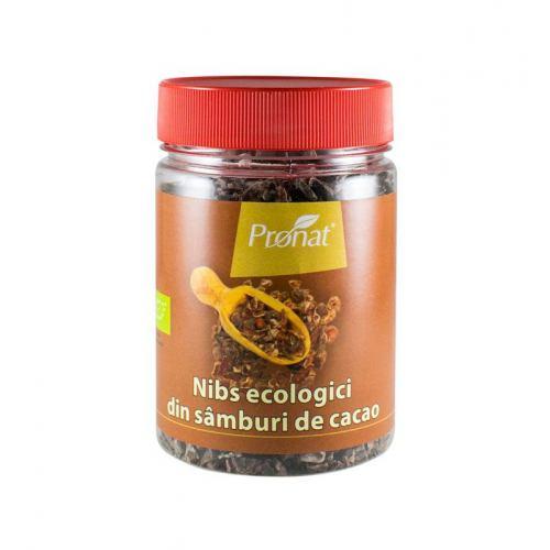 Nibs ecologici din samburi de cacao 130G PRONAT