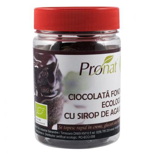 Ciocolata fondant BIO cu sirop de agave 150G PRONAT