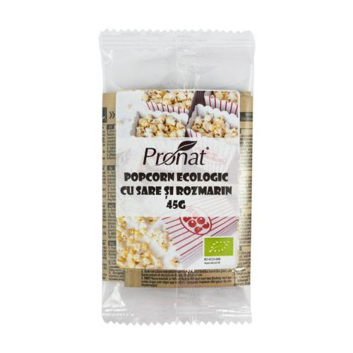 Popcorn BIO cu sare si rozmarin 45G PRONAT