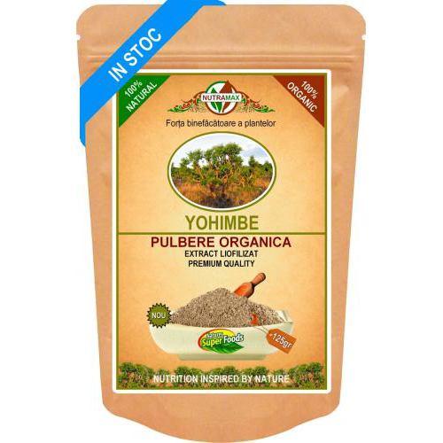 Yohimbe Bark pulbere organica 75G NUTRAMAX