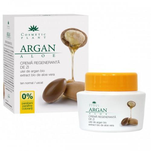 Crema Regeneranta de Zi cu Ulei de Argan Bio si Extract Bio de Aloe Vera 50ml COSMETIC PLANT